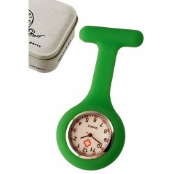 1T. Clock of hanging green in silicone with safe «Nurse». In metallic case.