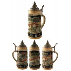 2T. Decorative ceramic mug beer 750 ml. «Deutschland ist schön».