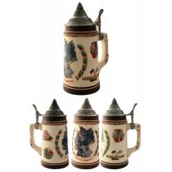 2T. Decorative ceramic mug beer 750 ml. «Maps».