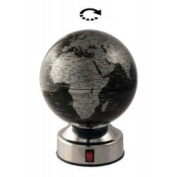 1T. Ø14 cm. Black & silver rotating globe.