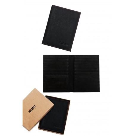 3T. Leather credit card wallet «Zippo» Moka
