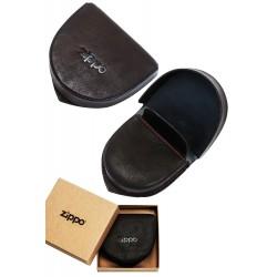 3T. Leather coin pouch Moka «Zippo»