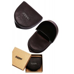 3T. Leather coin pouch brown «Zippo»