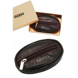 3T. Leather Coin Purse Moka «Zippo»