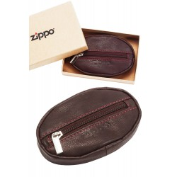 3T. Leather coin purse brown «Zippo»