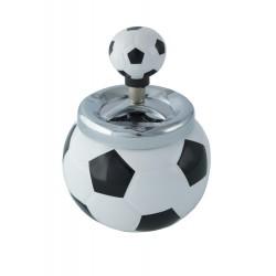 1T. Automatic white ceramic ashtray «football»