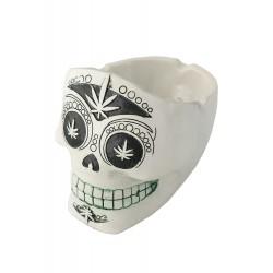 1T. White ceramic ashtray «Skull»