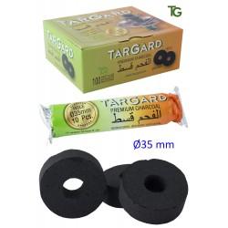 1T. Display with 10 bags of 10 charcoal «Tar Gard» sticks Ø35 mm with hole for shisha