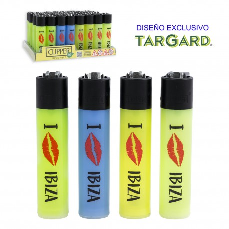 4T. Display with 48 Clipper lighters «KISSING IBIZA»