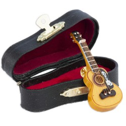 5T. Pin wooden spanish guitar with case