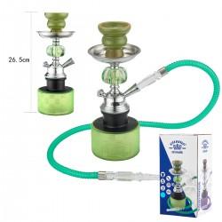 3T. 27 cm. Shisha  «Al Malik» green