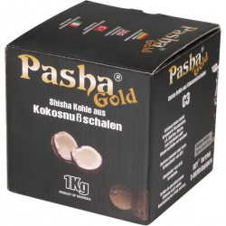 3T. Box of 1kg «PASHA GOLD» of natural coconut charcoal