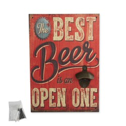 1T. Decorative painting with beer openers