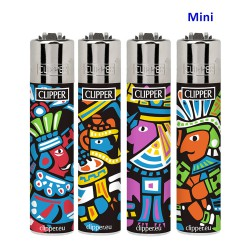4T. Mini «Clipper» Display with 48 lighters «AZTECAS»