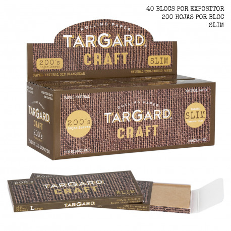 1T. Rolling paper «TarGard CRAFT® 200`s» Display with 40 booklets
