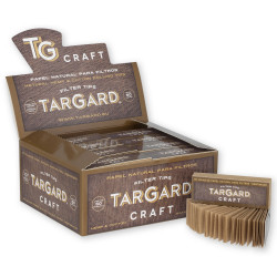1T. Display with 50 booklets of 50 perforated tips filter papers «Tar Gard Craft»