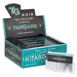 1T. Display with 50 booklets of 50 perforated tips filter papers «Tar Gard Noir»