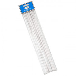 3T. Bag with 25 White Pipe Cleaners 30 cm «Jean Claude»