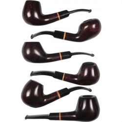 3T. Collection 6 Wooden Hookahs «Jean Claude» Filter 9mm