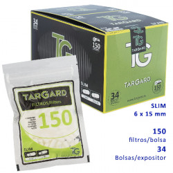 1T. Display Tar Gard filter «Slim 6 mm.» with 34 bags of 120 + 30 units