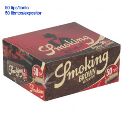 4T. «Smoking» display with 50 filters tips Medium Size Brown