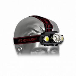 3T. Luz Frontal cabeza Gris recargable