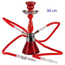3T.30 cm. Shisha «DOHA» roja de cristal