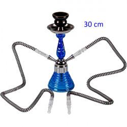 3T.30 cm. Shisha «DOHA» azul de cristal