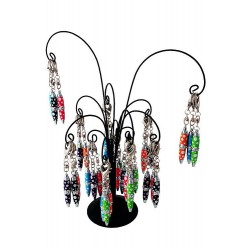 1T. Metal palm tree display with 36 spots ballpen/keyrings