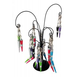 5T. Metal palm tree display with 36 cone ballpen/keyrings